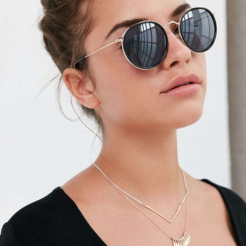 Charlie Metal Round Sunglasses - Urban Outfitters