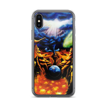 Trippy ALL sizes iPhone Cases Birth Pangs by Vincent Monaco available for ALL iPhone models.