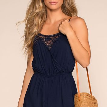Smitten All Day Romper - Navy