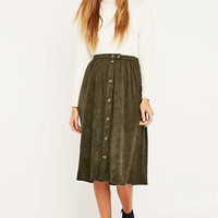 Urban Outfitters Suedette Midi Skirt - Urban Outfitters