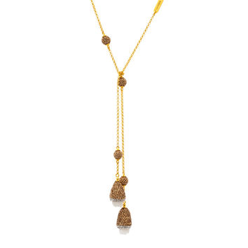 Raw Quartz Dome Lariat