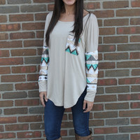 The Native Sequin Top: Tan