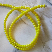 Yellow Glass Beads 4mm