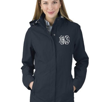 Monogrammed Jacket, Charles River Jacket, Women's Logan Jacket, Monogrammed Coat, Monogram Winter Coat