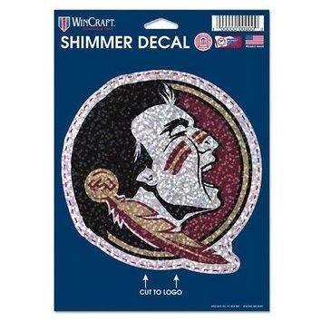 """Licensed Florida State Seminoles Official NCAA 5""""x7"""" Shimmer Car Decal by Wincraft 123923 KO_19_1"""