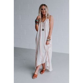 Briar Flowy Stripe Maxi Dress - Coral