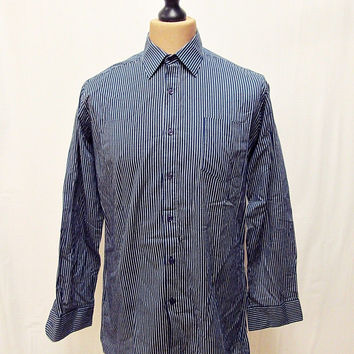 Vintage 1970s Hemingway Nautical Sailor Shirt Large