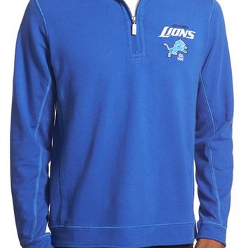 Men's Tommy Bahama 'Ben & Terry - Detroit Lions' NFL Quarter Zip Pullover,