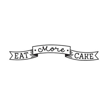 Wall decal quote: Eat more cake / Wall black vinyl sticker / Kitchen decor / Cake Quote Home decor / Housewarming gift