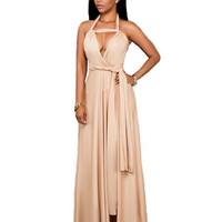 Bandage Ribbon Maxi Dress 10969