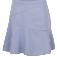 Lilac Wool Fit and Flare Skirt