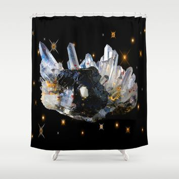 Star Aura Quartz Shower Curtain by Azima