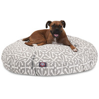 Gray Aruba Small Round Dog Bed