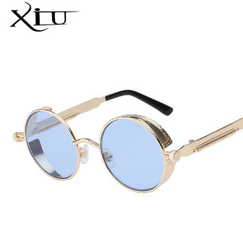 Mens Sunglasses Coating Mirrored Sunglasses Round Circle Sun glasses Retro Vintage