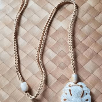 Carved Mother of Pearl Octopus Necklace