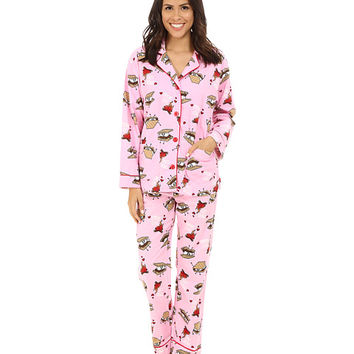 P.J. Salvage Smore Flannel Sleep PJ Set