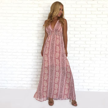In Motion Maxi Dress In Pink