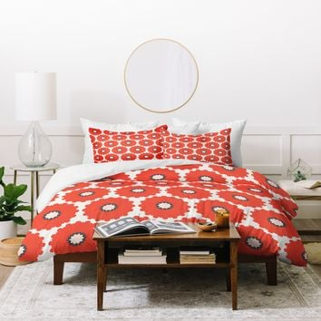 Holli Zollinger Coral Pop Duvet Cover
