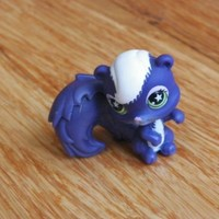 LPS #961 Purple and White Squirrel with Green Star Eyes