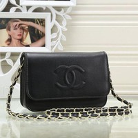 Chanel bag classic Lingge chain bag flip shoulder diagonal handbag B-MYJSY-BB Black