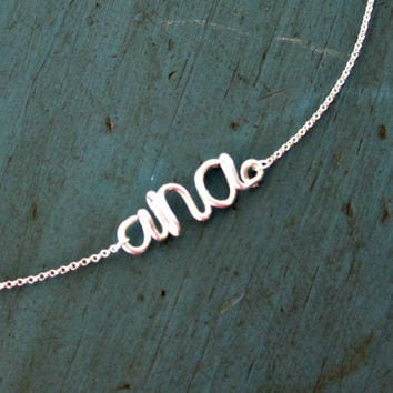 Monogram Necklace Sterling Silver Initial Necklace Small Monogram Personalized Bridesmaid gifts Girlfriend gifts