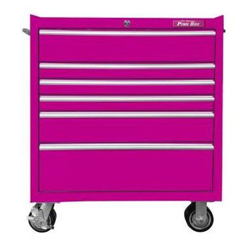The Original Pink Box 6 Drawer Rolling Cabinet