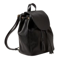 Old Navy Womens Faux Leather Backpack Purse Size One Size - Black
