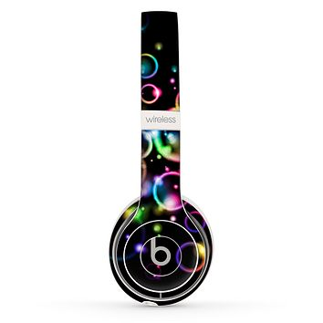The Glowing Neon Bubbles Skin Set for the Beats by Dre Solo 2 Wireless Headphones