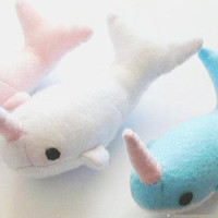 Narwhal Plushie Whale Stuffie Kawaii Plush Stuffed Ornament Gift Geeky Home Decor Lolita Accessory
