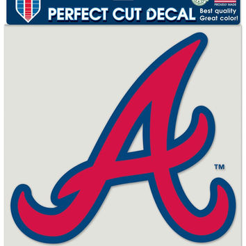 Atlanta Braves Decal 8x8 Die Cut Color