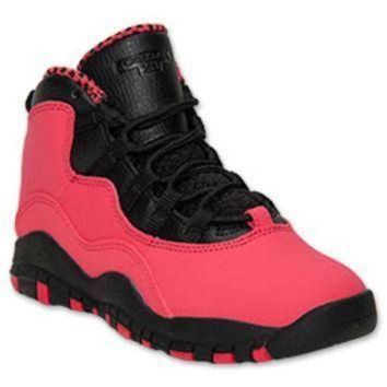 DCK7YE Girls' Preschool Jordan Retro 10 Basketball Shoes