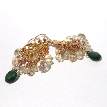 Shop green and gold chandelier earrings on wanelo green chandelier earrings small chandelier earrings green tourmaline gold vermeil bollywood style aloadofball Gallery