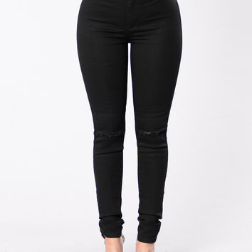 Way Too Much Emotions Jeans - Black