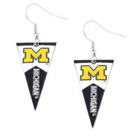 Michigan Wolverines Women's Pennant Dangle Earrings
