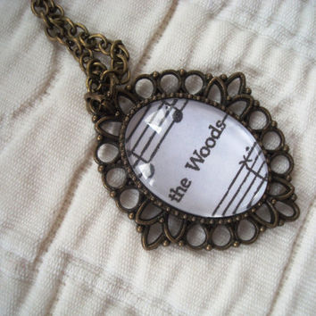 Into the Woods sheet music small necklace