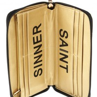Every Saint Has A Past Zip Wallet Black at Prima donna