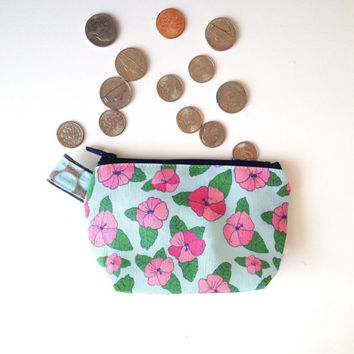 Hibiscus Flat Bottom Coin Purse (handmade philosophy's pattern)