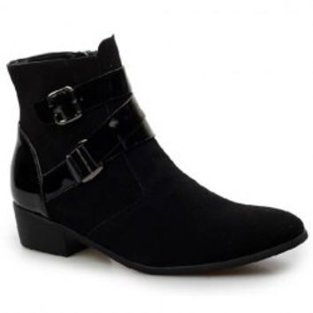 Stylsih Men's Boots With Buckle and Pointed Toe Design