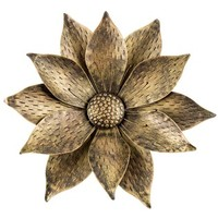 Gold & Black Metal Flower Wall Decor | Shop Hobby Lobby