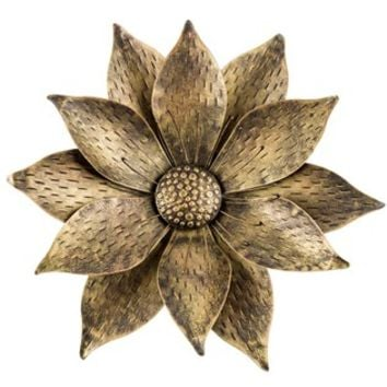 Gold & Black Metal Flower Wall Decor | from Hobby Lobby on Hobby Lobby Outdoor Wall Decor Metal id=19260