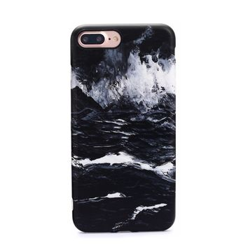 Marble Case for iPhone 8 Plus / 7 Plus - Black