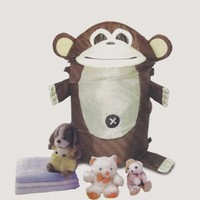 Monkey Laundry Hamper Round