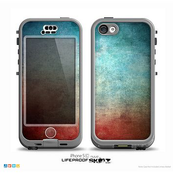 The Faded Grunge Color Surface Extract Skin for the iPhone 5c nüüd LifeProof Case