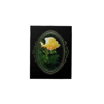 Gothic Framed Oval Yellow Rose Painting Puzzle from Zazzle.com