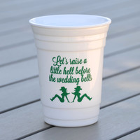 Country bachelorette party cup | Cowgirl party cups | Let's raise a little hell before the wedding bell | Reusable solo cups