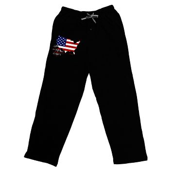 American Roots Design - American Flag Adult Lounge Pants by TooLoud