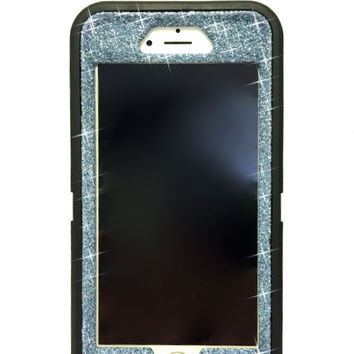 iPhone 6 Plus OtterBox Defender Series Case Glitter Cute Sparkly Bling Defender Series Custom Case Black / blue topaz