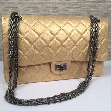 ONETOW Chanel Metallic 2.55 Reissue Quilted Classic Flap Cross Body Shoulder Bag $5500