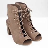James Lace Up Heel