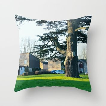 Village Throw Pillow by Taoteching / C4Dart